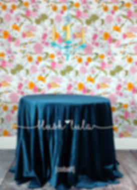 LUXE Velvet Tablecloth Overlay in Cobalt Blue + More Colors Buy Now at blush LULA Couture Linens