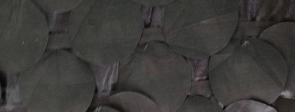 Round Drops Taffeta Black Violet Tablecloth