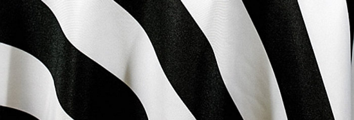RENTAL - Canopy Stripes Black Tablecloth