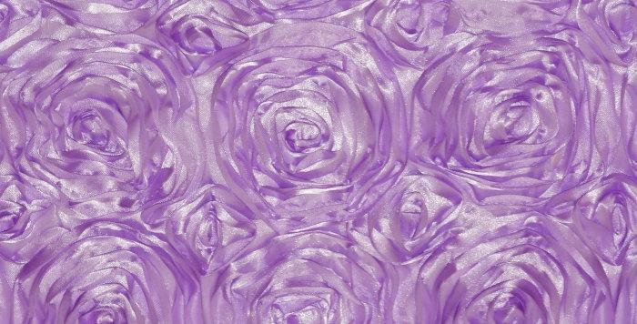 Satin Ribbon Lilac Lavender Rosette Tablecloth