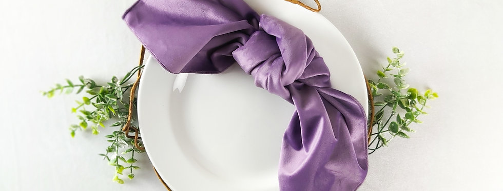 Lilac Matte Velvet Napkin