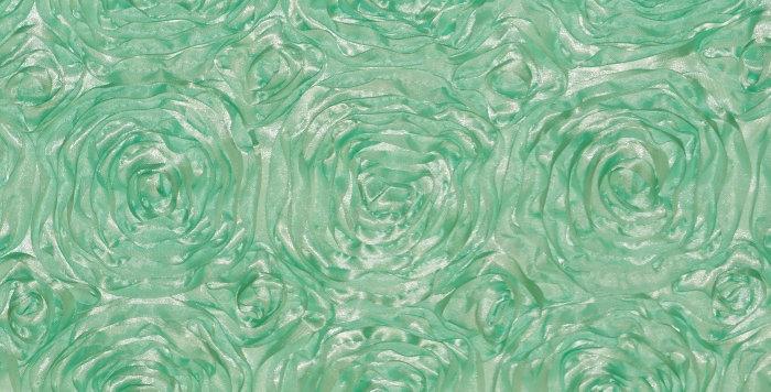 Satin Ribbon Mint Rosette Tablecloth