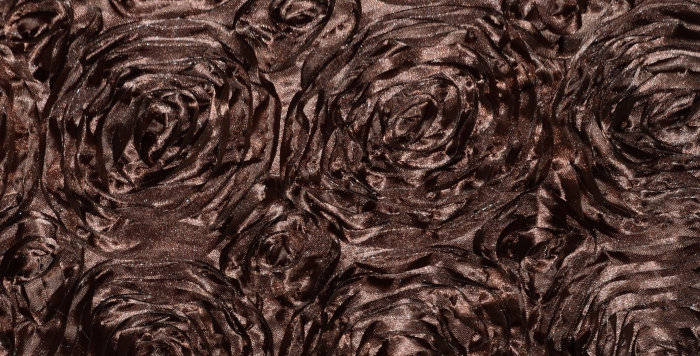 Satin Ribbon Chocolate Brown Rosette Tablecloth