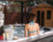 Hôtel les amandiers Saint Raphaël : Bains à remous et sauna