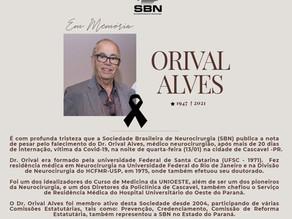 Nota de falecimento – Dr. Orival Alves