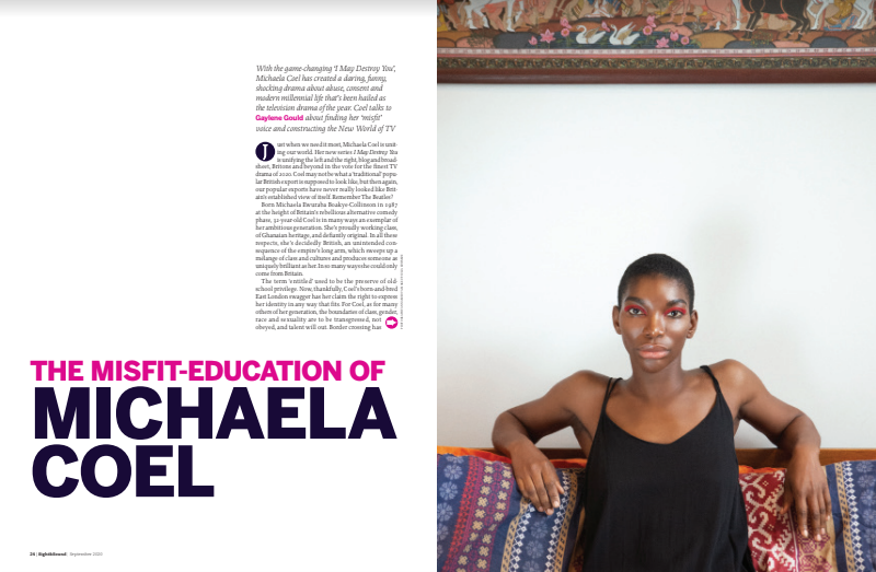 Sight & Sound cover interview with Michaela Coel