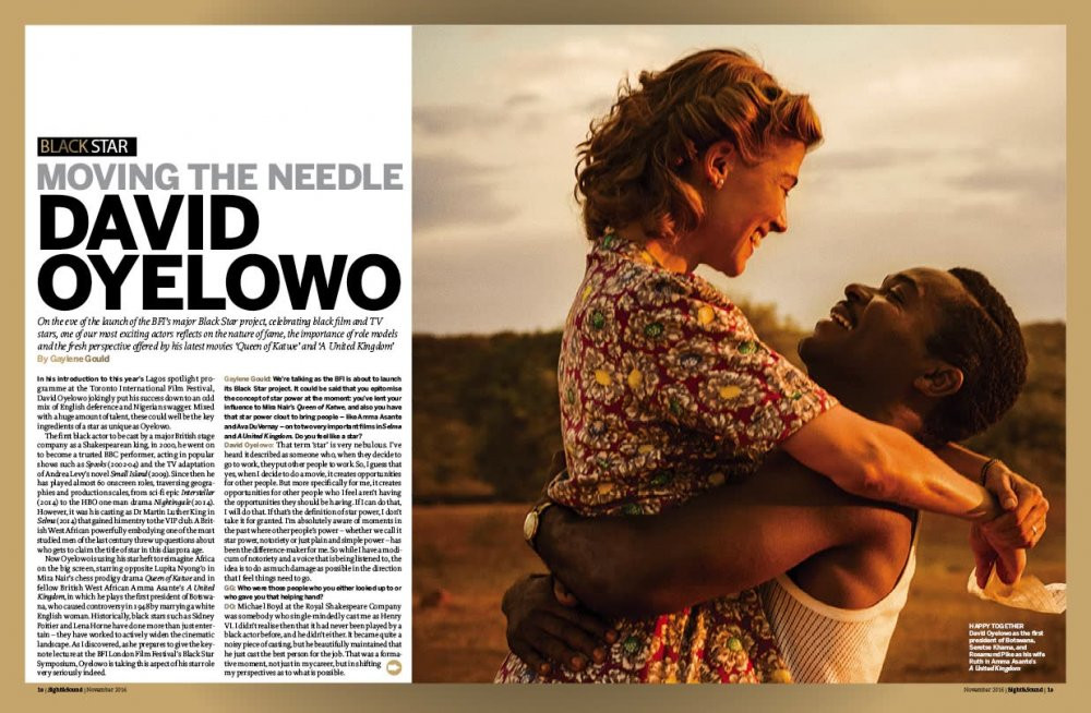 Sight & Sound Cover Interview with David Oyelowo