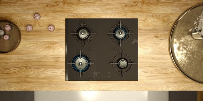 ukázky instalace luxusní plynové varné d