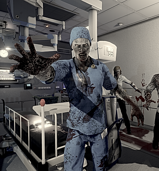 zombie in hospital room project azriel bulltetproof brain training
