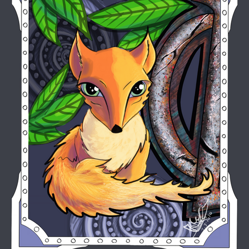 Cute Fox! ORIGINAL Orange and Silver Smo
