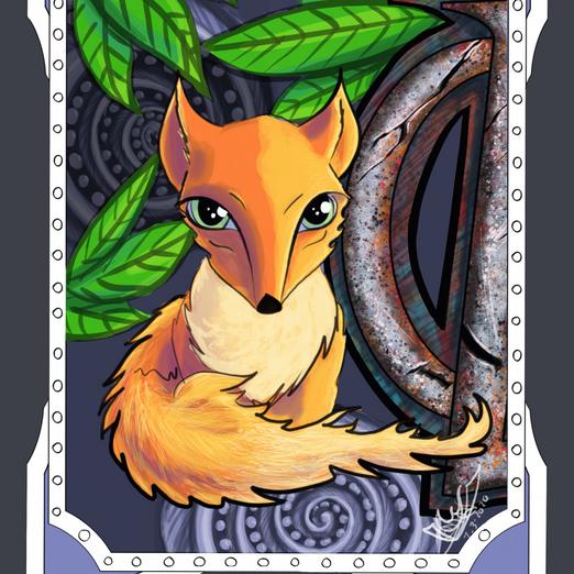 Cute Fox! ORIGINAL Orange and Silver Smo