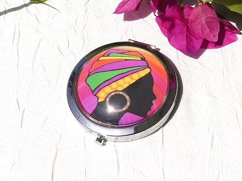 Miroir  femme guyanaise rose