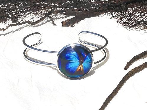 Bracelet morpho bleu