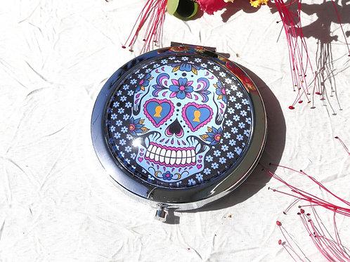 Miroir inspiration mexicaine tête de mort