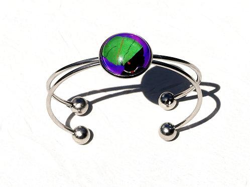 Bracelet femme coiffe verte