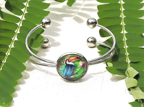 Bracelet jonc toucan
