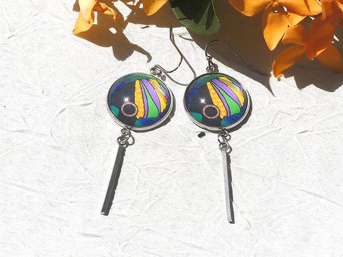Boucles d'oreille pendantes colorées