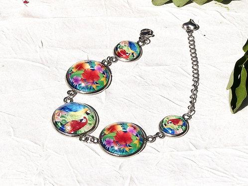 Bracelet chaîne cabochons