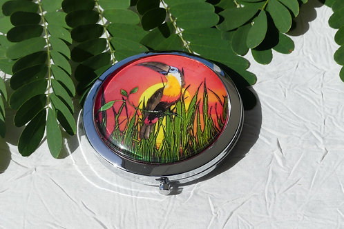 Miroir toucan orange