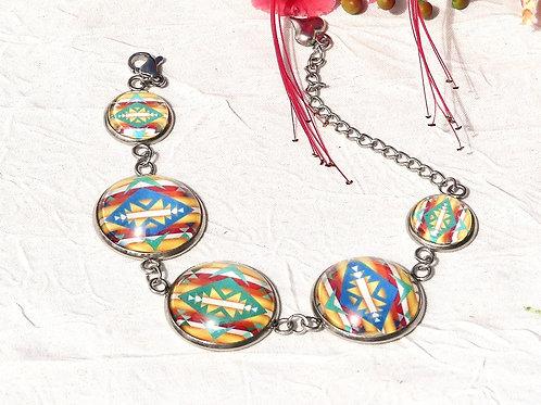 Bracelet ethnique graphique