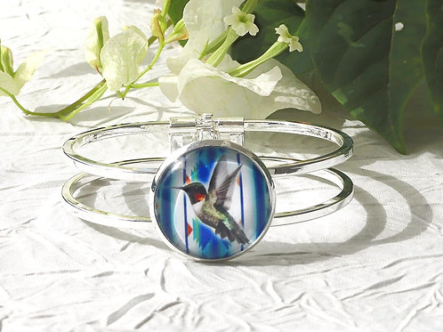 Bracelet colibri bleu