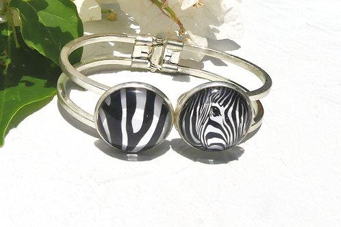 Bracelet double zebré