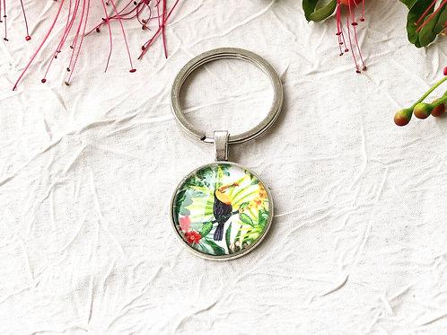 Porte-clefs tropical toucan