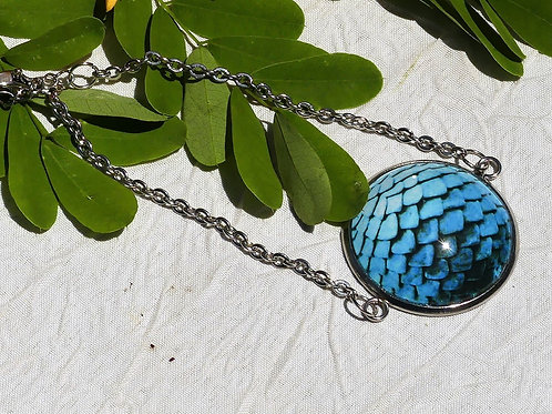 Bracelet écailles bleues