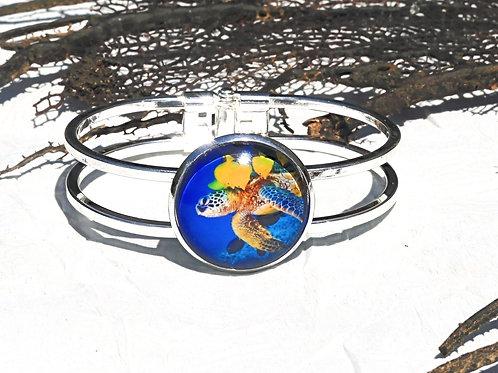 Bracelet bleu tortue