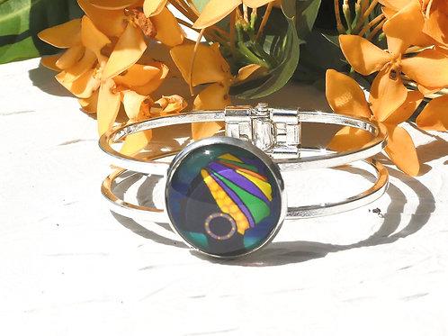 Bracelet femme coiffe colorée