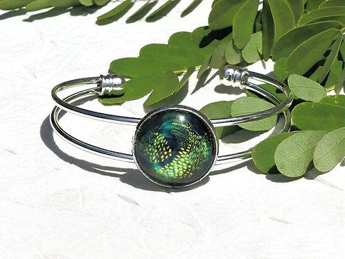 Bracelet vert animal