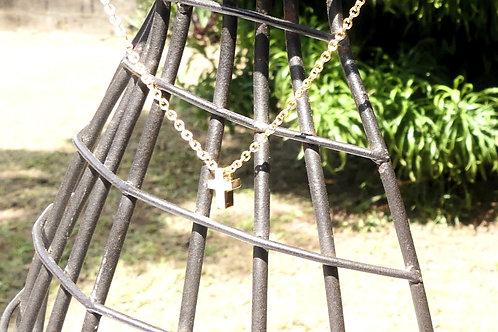 Collier acier inoxydable croix