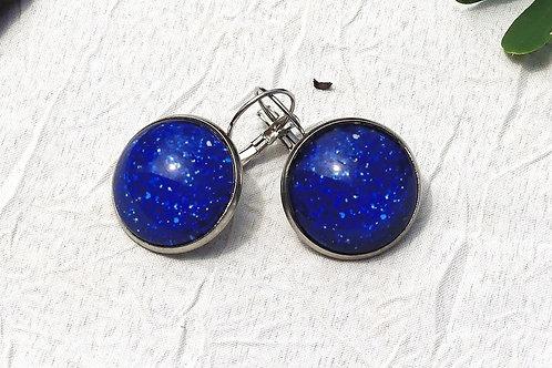 Boucles d'oreille bleues