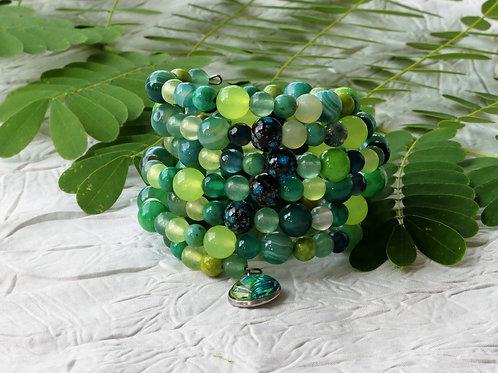 Bracelet multi-rang vert