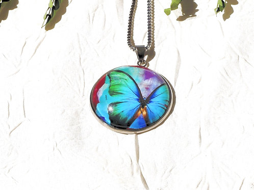 Collier sautoir papillon