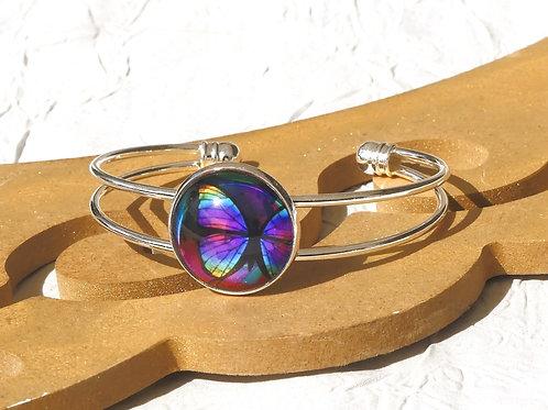 Bracelet papillon violet
