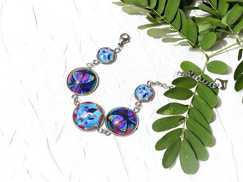 Bracelet colibri papillon