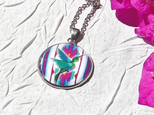 Sautoir collier colibri