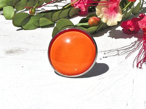 Bague réglable orange vif