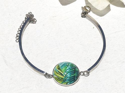 Bracelet rigide feuillage