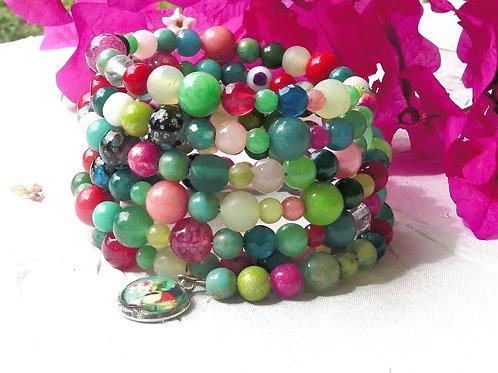 Bracelet perles de gemme