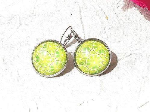Boucles d'oreille citrons verts