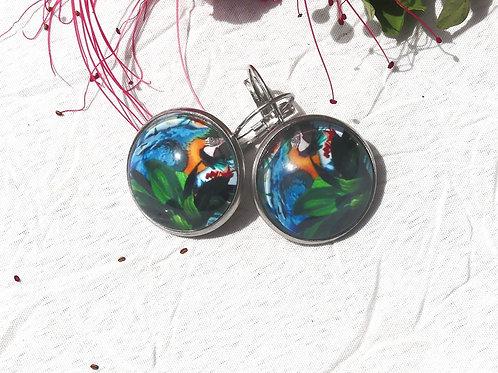 Boucles d'oreille perroquets