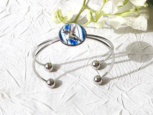 Copie de Bracelet colibri bleu