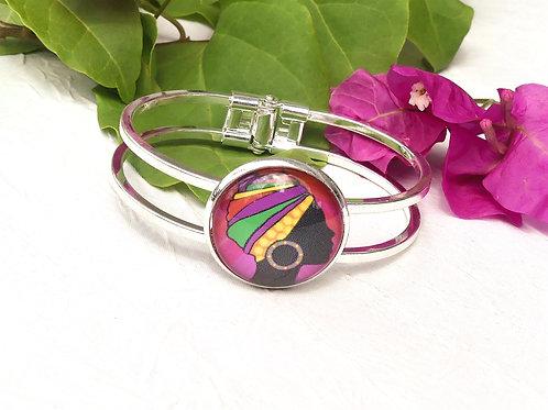 Bracelet femme guyanaise rose
