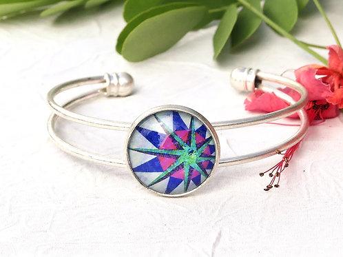 Bracelet graphique violet