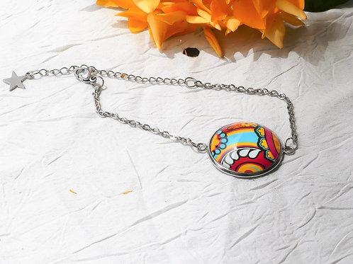 Bracelet chaîne coloré