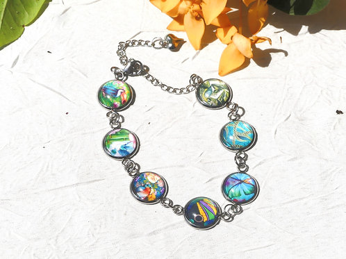 Bracelet multi cabochons Guyane