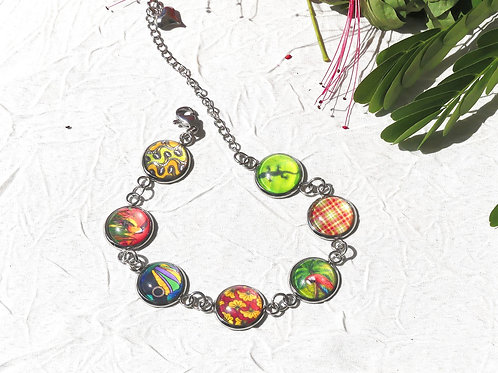 Bracelet chaine cabochons Guyane