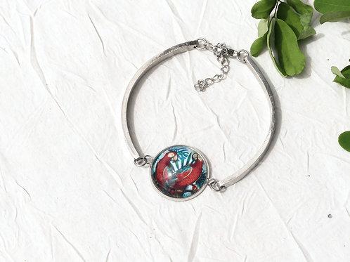 Bracelet rigide perroquet